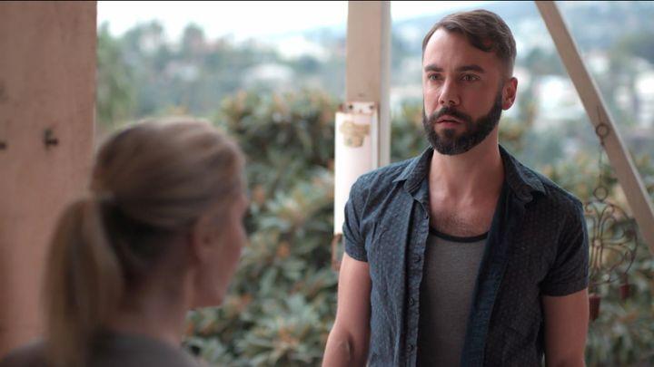 "John Halbach, who is Williamson's real-life husband, stars in ""EastSiders"" as Ian."