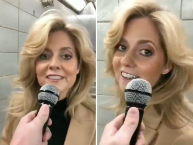 Charlotte Awbery, en el vídeo que se ha hecho