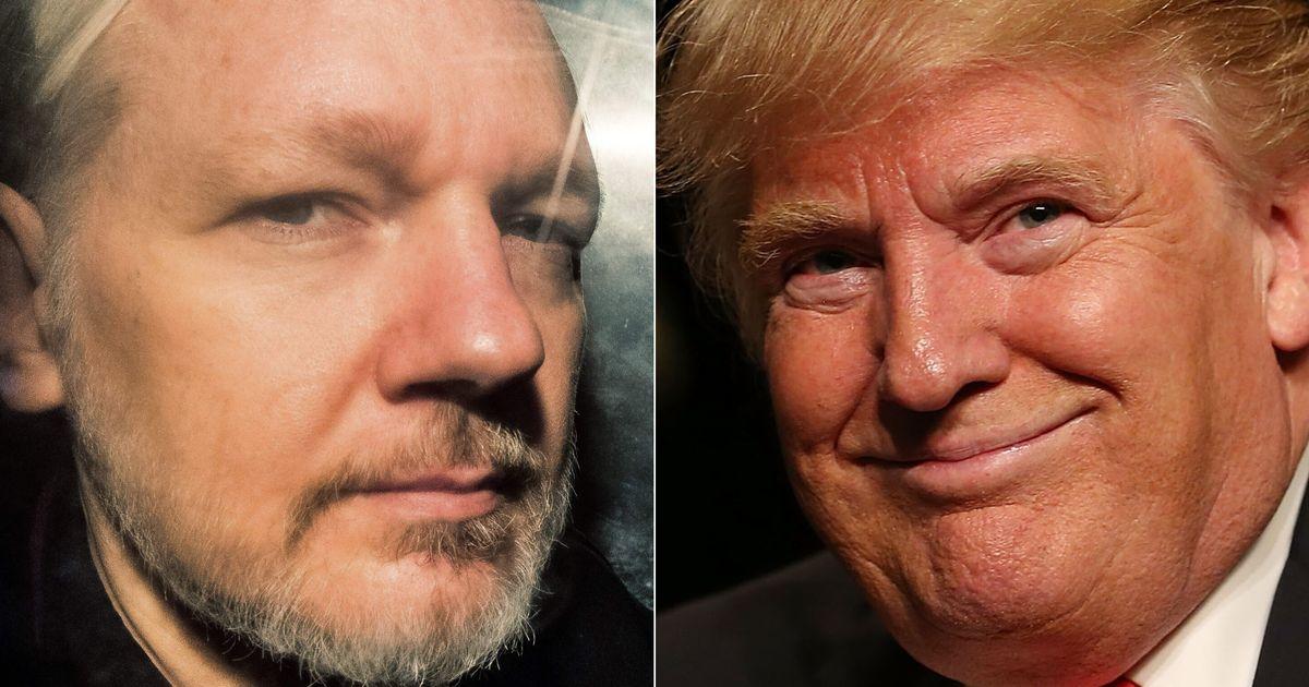 Trump le ofreció el indulto a Assange si negaba la trama rusa