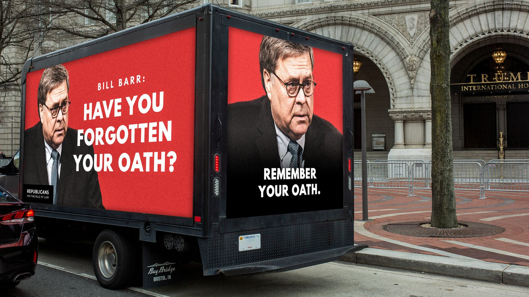 GOP Group Uses Billboard Truck To Ask William Barr A Very Simple Question