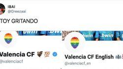 El Valencia la lía (y no en lo deportivo) en Twitter en el 'Día contra la LGTBIfobia en el