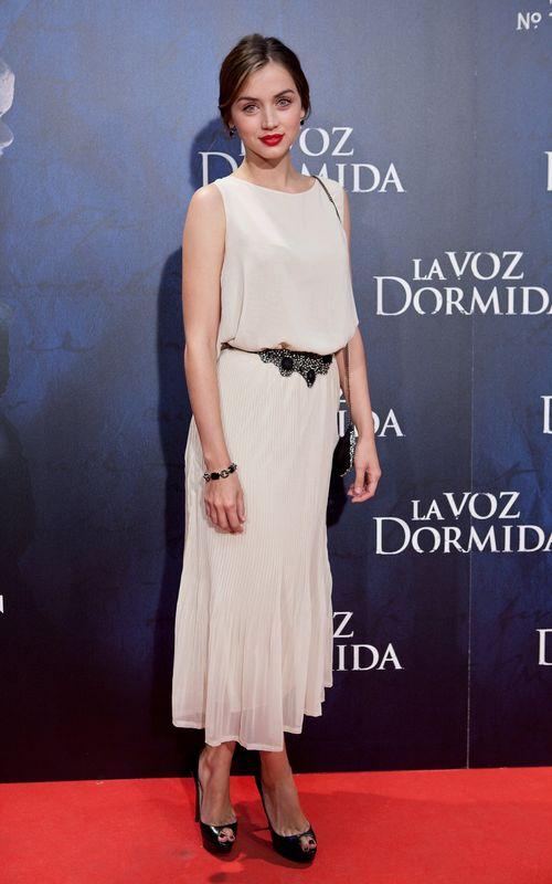 En la premier en Madrid de la película 'La Voz Dormida' en 2011.