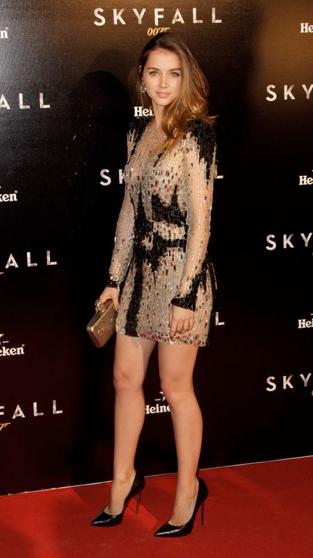 Durante la premier en Madrid de 'Skyfall' en octubre de 2012.