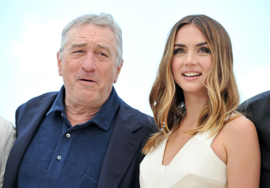 Junto a Robert De Niro en el Festival de Cannes de 2016.