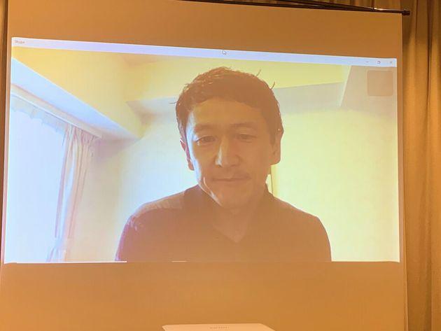 外国特派員協会で2月20日、オンライン記者会見した岩田健太郎氏