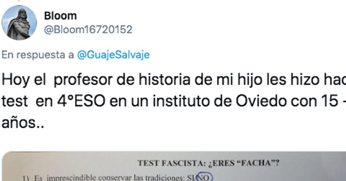 """¿Eres facha?"": el polémico test de un profesor de Oviedo"