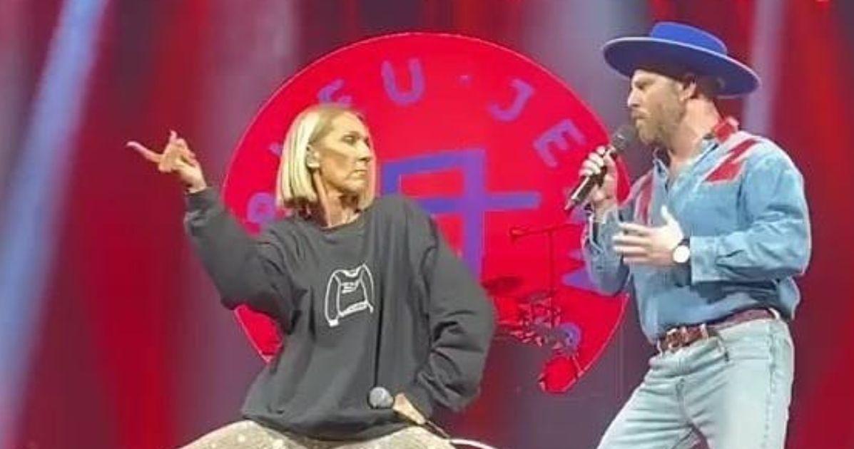 Quand Céline Dion chante «Coton ouaté» avec Bleu Jeans Bleu au Centre Bell