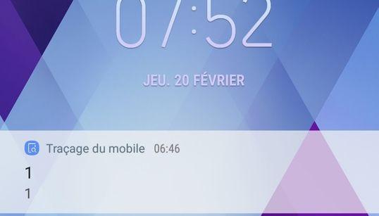 """""""Traçage de mobile"""", la notification de Samsung qui a inquiété les"""