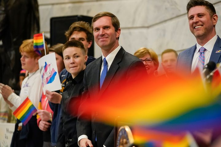 """Discrimination against our LGBTQ brothers and sisters is absolutely unacceptable in this commonwealth,"" Beshear said."