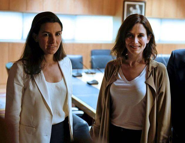 Rocío Monasterio e Isabel Díaz Ayuso, tras una