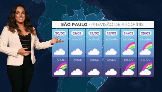 Pela 1ª vez, previsão do tempo incluirá arco-íris por apoio à causa