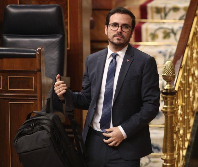 Alberto Garzón en el