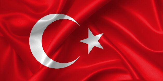 Flag of Turkey 3D, silk texture