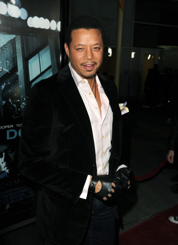 HOLLYWOOD, CA - FEBRUARY 26:  Actor Terrence Howard arrives to the premiere of FilmDistricts's 'Dead Man Down' at ArcLight Ho