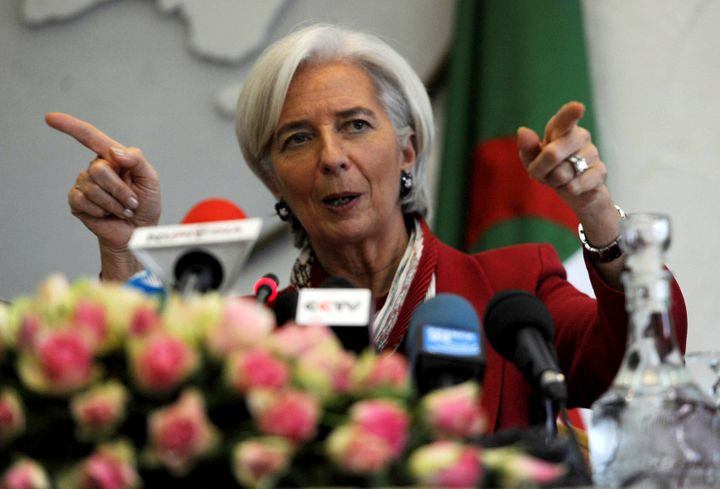 International Monetary Fund (IMF) chief Christine Lagarde speaks during a press conference in Algiers on March 13, 2013, on t