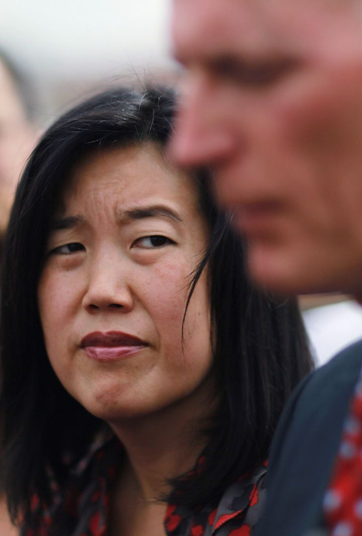 OPA LOCKA, FL - JANUARY 06: Michelle Rhee, who was named as the Informal Education Advisor to the Governor, listens as Florid