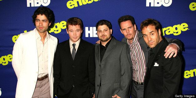 Adrian Grenier, Kevin Connolly, Jerry Ferrara, Kevin Dillon and Jeremy Piven, cast of 'Entourage' (Photo by Jeffrey Mayer/Wir