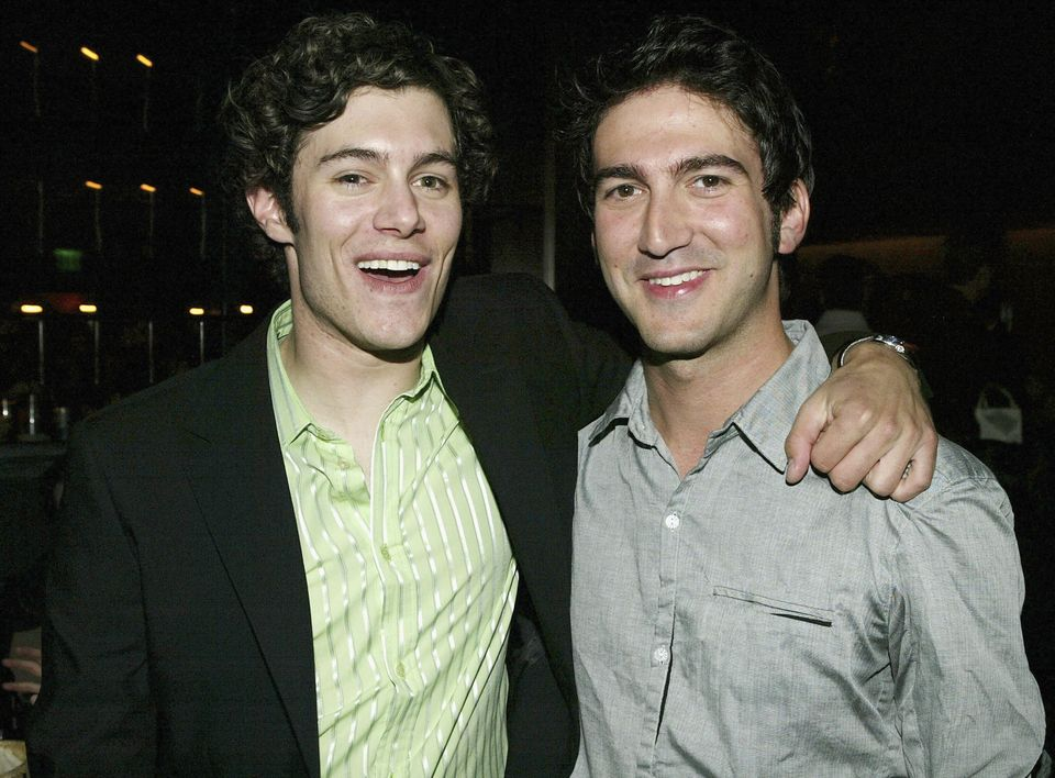 LOS ANGELES, CA - APRIL 20: (L-R) Actor Adam Brody and Executive Producer Josh Schwartz attends the 'Season Finale Party for