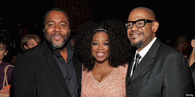 NEW YORK, NY - AUGUST 05:  (L-R) Lee Daniels, Oprah Winfrey and Forest Whitaker attend Lee Daniels' 'The Butler' New York pre
