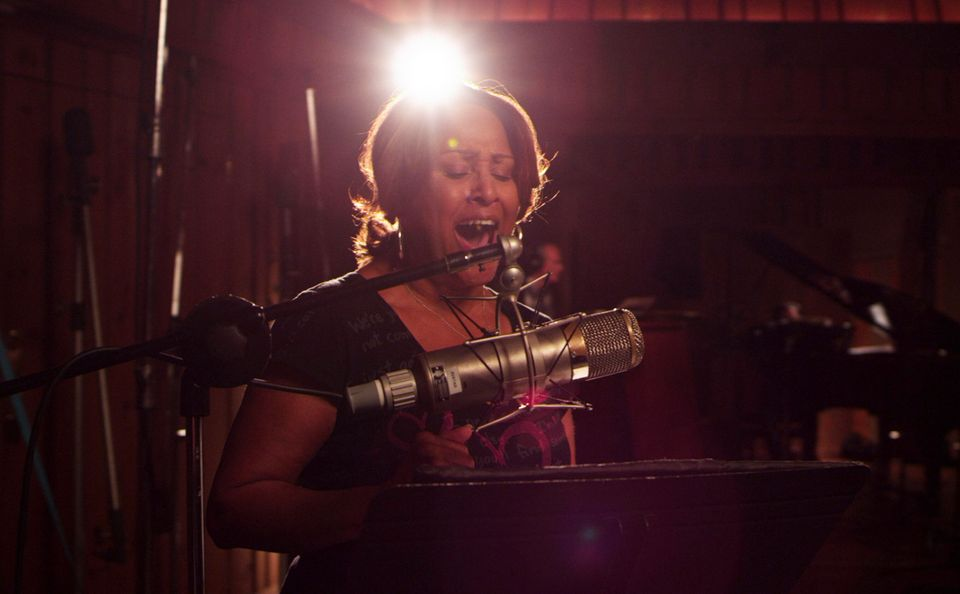 """This undated publicity photo released by Radius-TWC shows Darlene Love in a scene from the film, """"Twenty Feet From Stardom."""""""