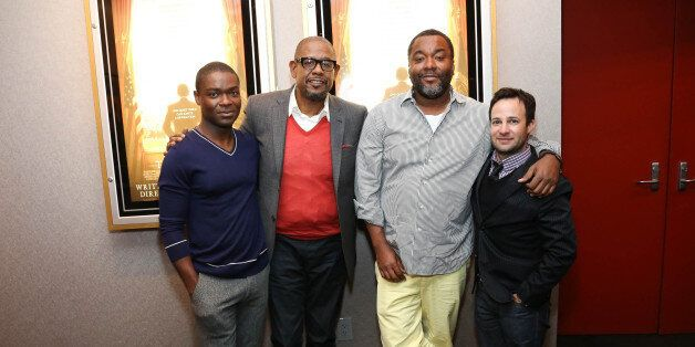 NEW YORK, NY - AUGUST 06:  (L-R) David Oyelowo, Forest Whitaker, Lee Daniels and Danny Strong attend The Academy of Motion Pi