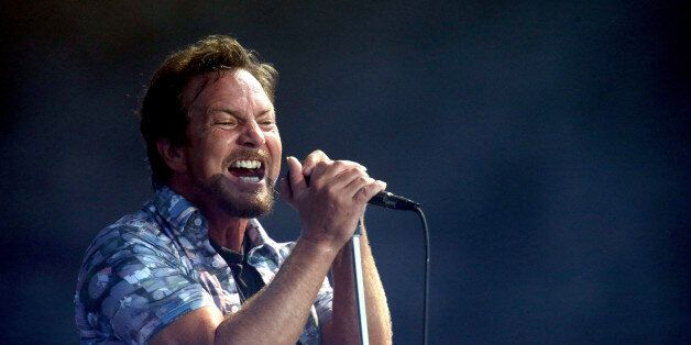 AUCKLAND, NEW ZEALAND - JANUARY 17:  Eddie Vedder of Pearl Jam performing at Western Springs Stadium during the 2014 Big Day