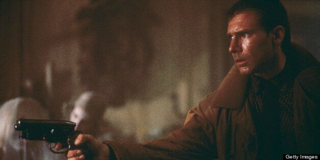 'Blade runner' Rick Deckard (Harrison Ford) enters Sebastian's apartment, where he is soon to be attacked by the replicant Pr