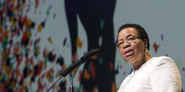 Graca Machel, widow of late South African president and global icon, speaks at a conference on improving maternal, newborn an