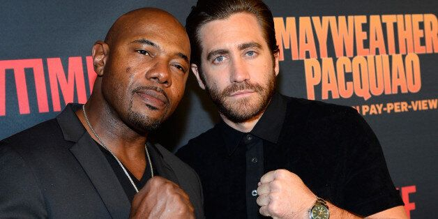 LAS VEGAS, NV - MAY 02:  Director Antoine Fuqua and actor Jake Gyllenhaal attend the SHOWTIME And HBO VIP Pre-Fight Party for