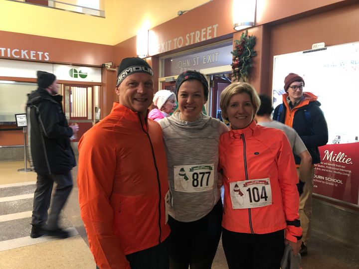 Me and my parents at a Hamilton road race in 2019. It took me years to find running enjoyable again.