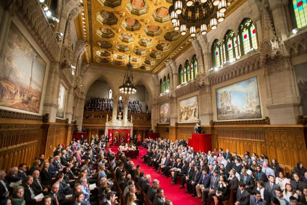 File photo of Speech from the Throne at the start of Canada's 42nd Parliament in Ottawa on Dec. 4,