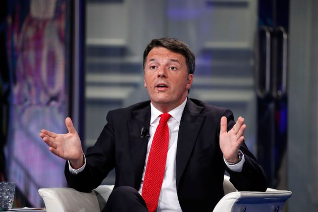 Italian politician Matteo Renzi guest at the Porta a Porta television broadcast. Rome (Italy), January...