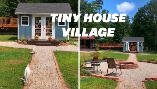 Ces parents ont fabriqué des tiny house pour respecter l'intimité de leurs