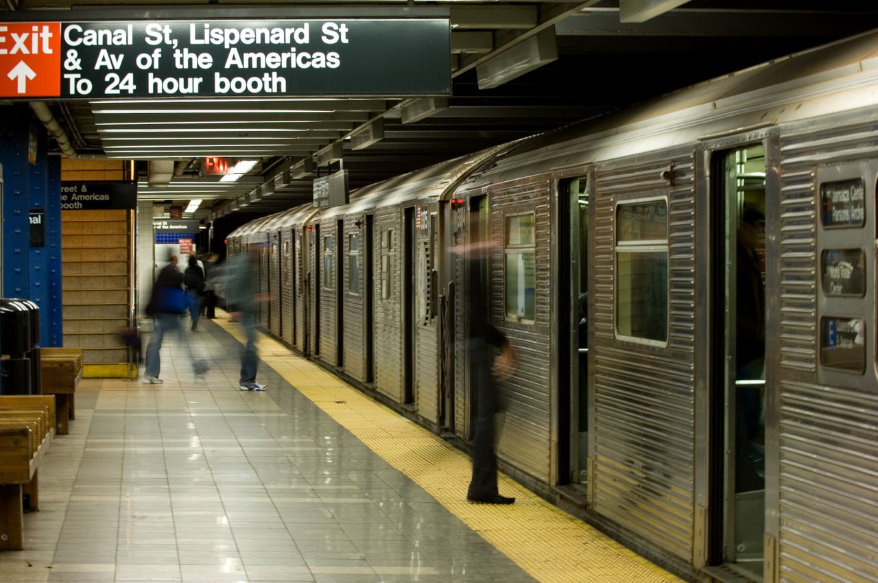 Canal Street station in the New York City subway system.