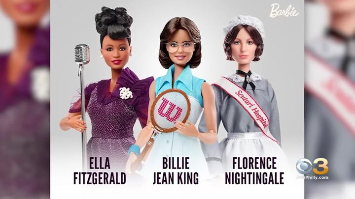 It's part of Barbie's Inspiring Women Series.