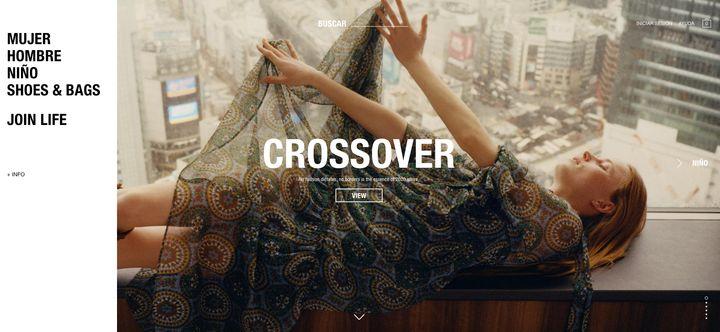 Portada de la web de Zara en la que se incluyen las secciones: Mujer, Hombre, Niño y Shoes&Bags, además de Join Life, la colección sostenible de la marca.