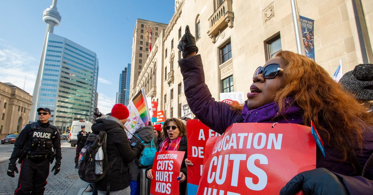 Ontario Teachers Holding Massive Protests Amid Provincewide Strike
