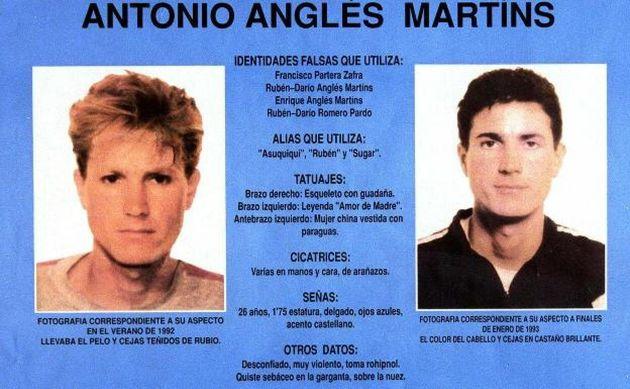 Ficha policial de Antonio