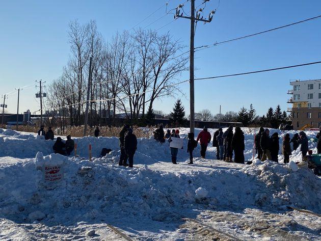 Jeudi, une cinquantaine de manifestants bloquaient la voie ferrée à