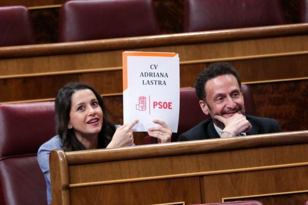 Arrimadas, en el Congreso junto a Edmundo