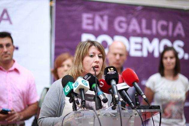 La secretaria general de Podemos Galicia, Carmen Santos, en una imagen de