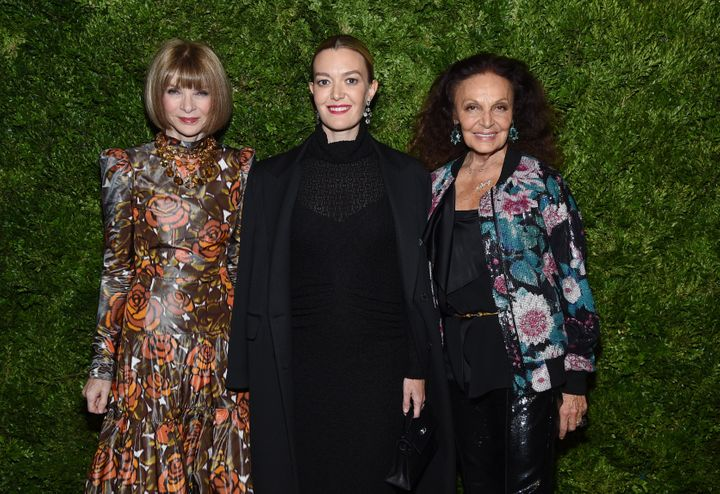 Marta Ortega junto a Anna Wintour y la diseñadora Diane Von Furstenberg.