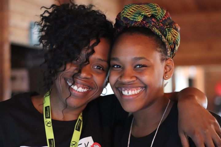 Kisha McPherson, left, and her daughter.