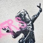Banksy se réjouit que son œuvre de la Saint-Valentin a été vandalisée pour cette