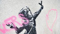 Banksy se réjouit que son œuvre de la Saint-Valentin ait été vandalisée pour cette