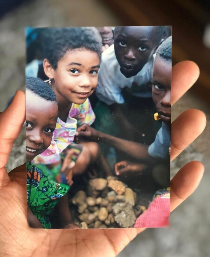 Jade O'Neil and friends as a child in Togo.