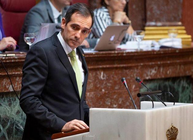El portavoz parlamentario de Vox en la Asamblea Regional de Murcia, Juan José