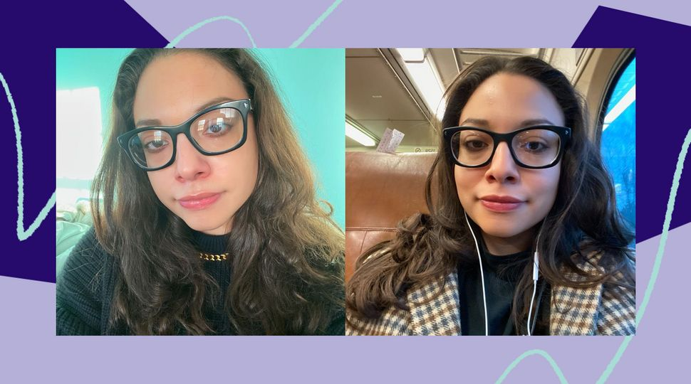 The photo on the left is from one of my frizzy-hair days. On the right is me in the morning, after using the Revlon brush the night before. If my hair can survive the journey of NJ Transit and the New York subway system, it can survive anything.