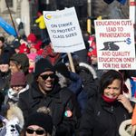 Thousands Of Striking Teachers, Supporters Descend On Ontario's