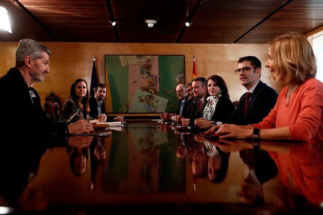 Reunión de la comisión gubernamental